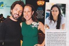 Seen here: A woman not involved with Sergey Brin
