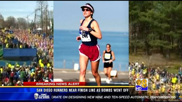 San Diego runners near finish line as bombs went off