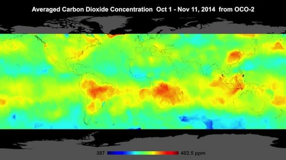 NASA Satellite's 1st CO2 Maps of Earth Revealed