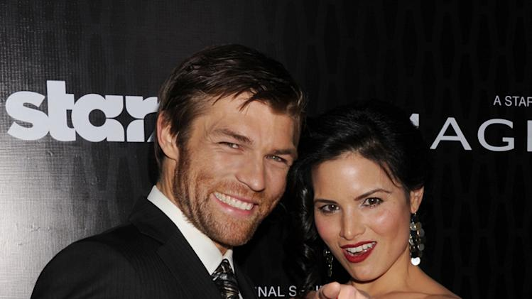 Liam McIntyre and Katrina Law