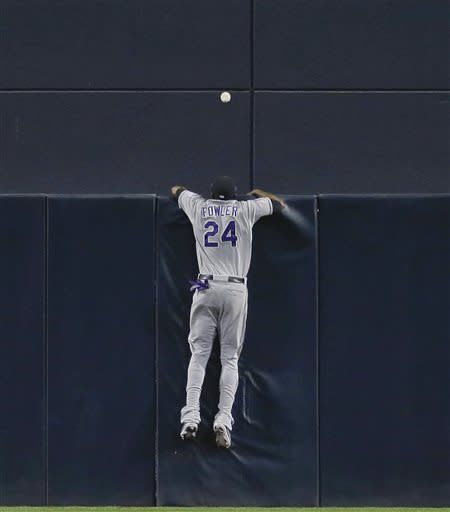 Fowler homers twice, Rockies beat Padres 7-5