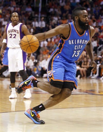 Harden's 40 leads Thunder past Phoenix 109-97