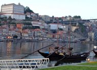 Historical wine transportion boats are moored at the Vila Nova de Gaia Port district of Porto. Portugal&#39;s Douro Valley is opening up its quintas, or port wine estates, to upscale tourists who are throwing it a lifeline in a bad economy