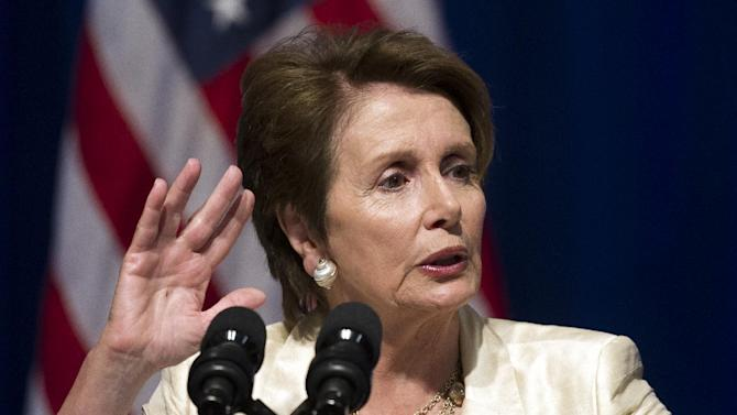Senate Minority Leader Nancy Pelosi, D-Ca., addresses an Organizing for Action summit in Washington, Monday, July 22, 2013. The group was formed from President Barack Obama's 2012 re-election campaign with the express goal of backing his policy priorities. (AP Photo/Cliff Owen)