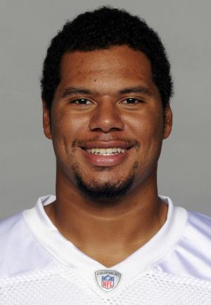 """FILE - This 2013 file photo shows Miami Dolphins' Andrew McDonald. McDonald's agent says the former Dolphins lineman, identified as Player A in the investigation of the racially charged bullying scandal, is """"disappointed his name has """"become associated with other players involved this story."""" (AP Photo/File)"""