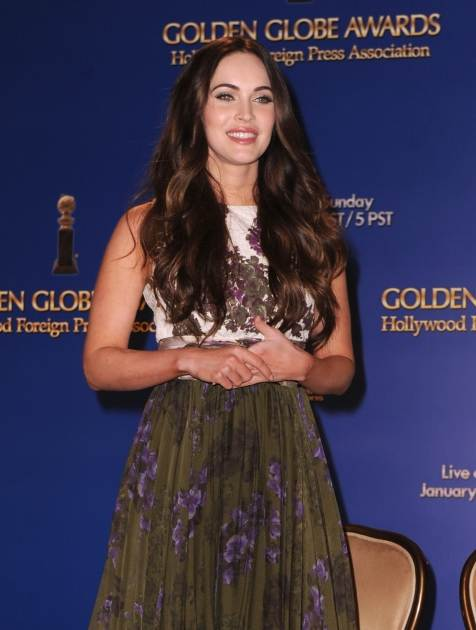 Megan Fox is seen onstage during the 70th Annual Golden Globes Awards Nominations at the Beverly Hilton Hotel on December 13, 2012 in Los Angeles -- Getty Images