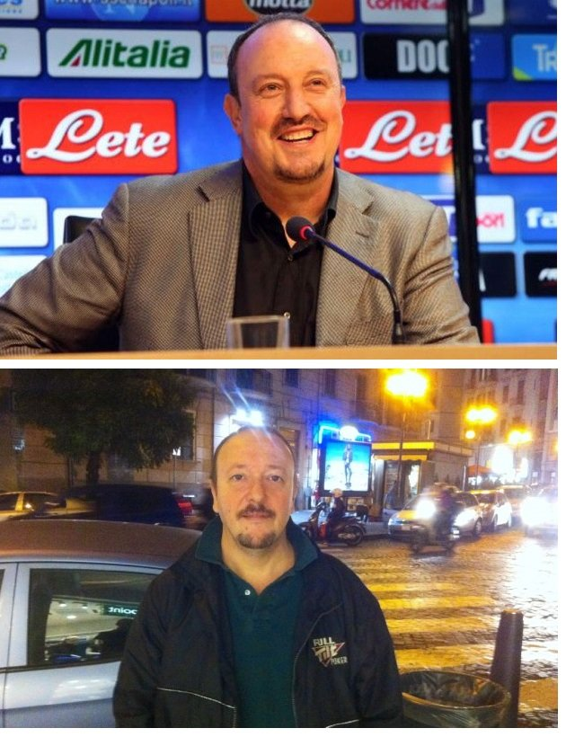 Sergio Vulcano, a waiter in Naples, is struggling to do his job because he looks like Rafa Benitez [Picture]