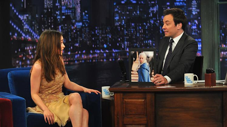 "Emilia Clarke Visits ""Late Night With Jimmy Fallon"""