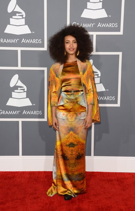Musician Esperanza Spalding arrives at the 55th Annual GRAMMY Awards at Staples Center on February 10, 2013 in Los Angeles, California. (Photo by Jason Merritt/Getty Images)