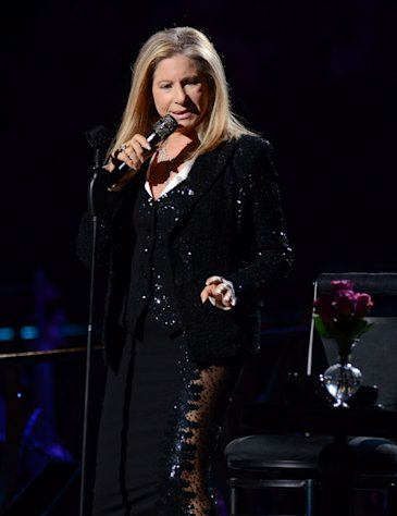 Singer Barbra Streisand kicks off her concerts at the Barclays Center in the Brooklyn borough of New York, on Thursday Oct. 11, 2012 (Photo by Evan Agostini/Invision/AP)