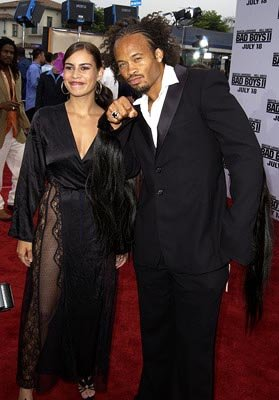Christine Carlo and Kiko Ellsworth at the LA premiere of Columbia's Bad Boys II