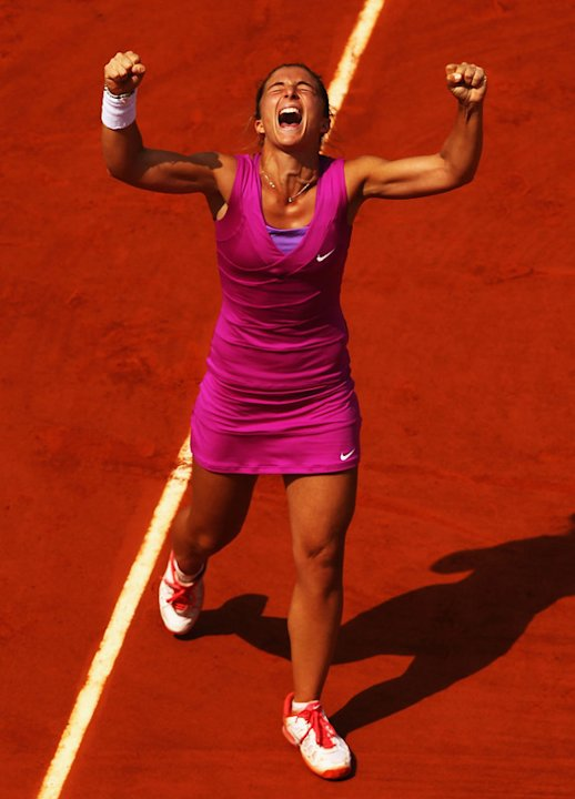 Sara Errani Of Italy Celebrates Getty Images