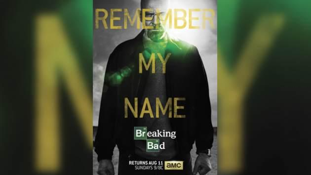 The key art for 'Breaking Bad's' final 8 episodes on AMC -- AMC