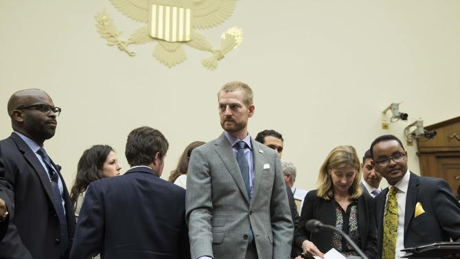 "Brantly, a medical missionary with Samaritan's Purse and an Ebola survivor, prepares to testify before a House Foreign Affairs Subcommittee hearing on ""global efforts to fight Ebola""� on Capitol Hill in Washington"