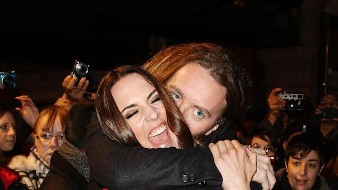 Tim Minchin and Melanie Chisholm seen at the Whatsonstage.com Theatregoers' Choice Awards at The Palace Theatre on Sunday, Feb. 17, 2013, in London. (Photo by Miles Willis/Invision/AP)