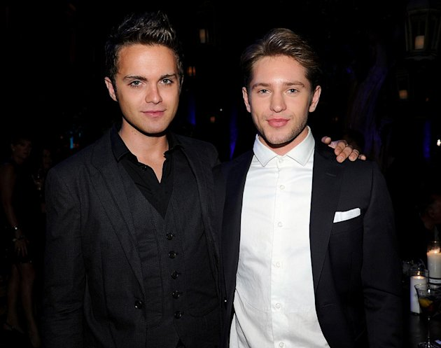 "Thomas Dekker and Louis Hunter of ""The Secret Circle"" attend The CW Fall Premiere party presented by Bing at Warner Bros. Studios on September 10, 2011 in Burbank, California."