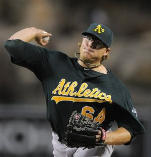 A's rookie Griffin 6-0 after 4-1 win over Angels