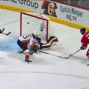 Toews stays patient to score on Andersen