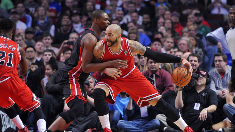 NBA: Miami Heat at Chicago Bulls