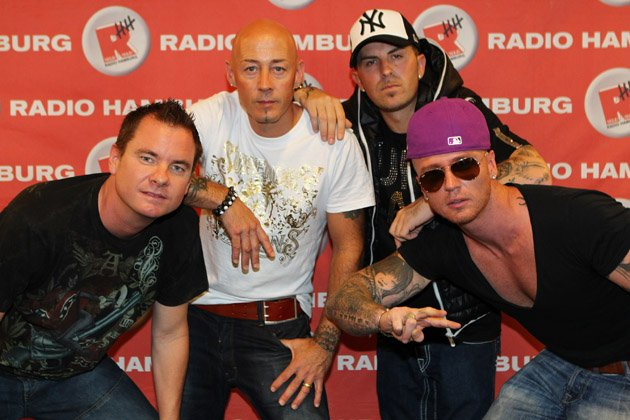 East 17 2011 mit Tony Mortimer, John Hendy und Terry Coldwell und dem Brian-Harvey-Ersatzmann Blair Dreelan (v.l.; Bild: Action Press)