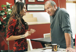 "Sofia Vergara and Ed O'Neill | Photo Credits: Peter ""Hopper"" Stone/ABC"