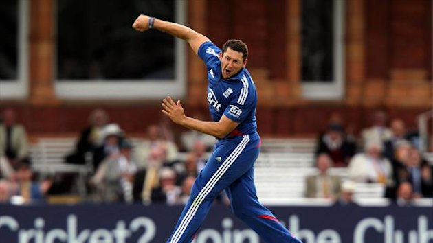 Tim Bresnan, pictured, claimed the scalps of Rohit Sharma and Virat Kohli in successive balls