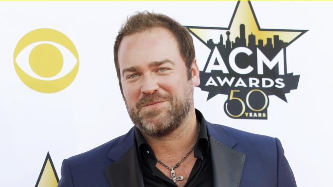 Lee Brice arrives at the 50th Annual Academy of Country Music Awards in Arlington