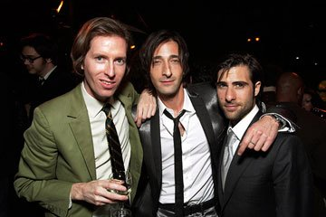 Director Wes Anderson , Adrien Brody and Jason Schwartzman at the Los Angeles premiere of Fox Searchlight's The Darjeeling Limited