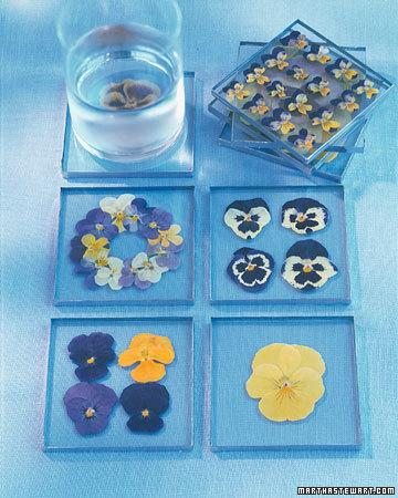Pretty Pressed-Pansy Coasters