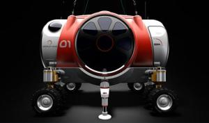 An artist rendering shows a six-passenger, two-pilot pressurized capsule that is being designed to fly in Earth's stratosphere