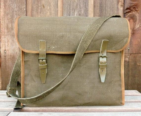 Vintage Military Satchel