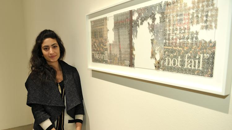 IMAGE DISTRIBUTED FOR SMMOA - Samira Yamin attends the Santa Monica Museum of Art Winter Exhibition Openings on Friday, Jan. 18, 2013 in Santa Monica, Calif. (Photo by John Shearer/Invision for SMMoA/AP Images)