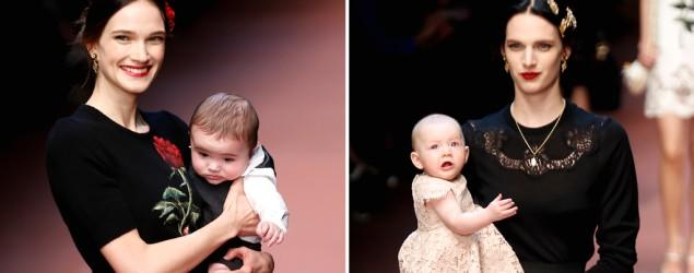 Babies rule this fashion runway