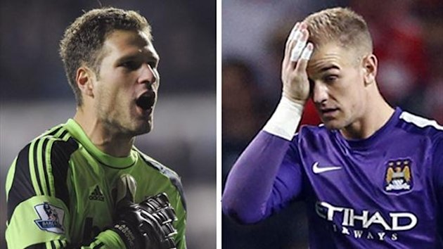 Asmir Begovic and Joe Hart (Reuters)
