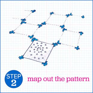 Map out the pattern