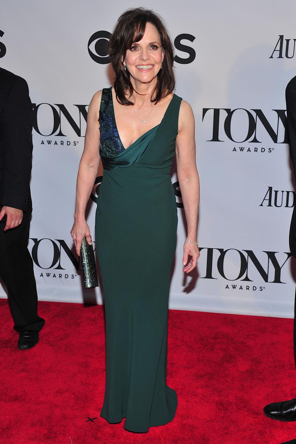 Sally Field arrives on the red carpet at the 67th Annual Tony Awards, on Sunday, June 9, 2013 in New York. (Photo by Charles Sykes/Invision/AP)