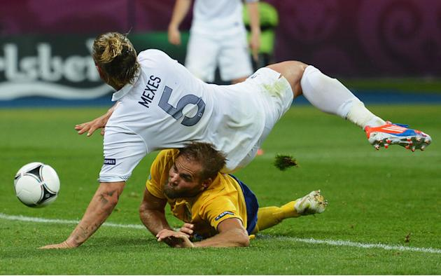 Philippe Mexes Of France Falls Getty Images