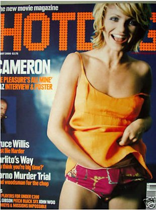 Cameron Diaz hot dog magazine
