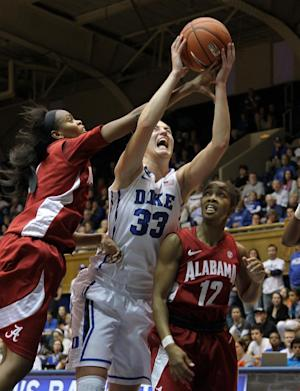 Liston helps No. 2 Duke rout Alabama women