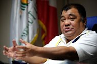 This photo taken on June 30, 2012 shows Philippine Coconut Authority chief Euclides Forbes. In the Philippines, coconut water remains a popular, cheap drink, with stalls selling it straight from the fruit -- a common site throughout the big cities as well as the countryside