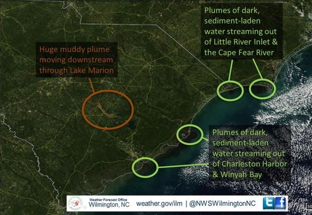 South Carolina's Historic Flooding Is Visible From Space