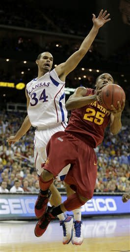 No. 7 Kansas beats Iowa State in Big 12 semis