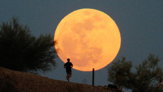 """Supermoon"" lights up"