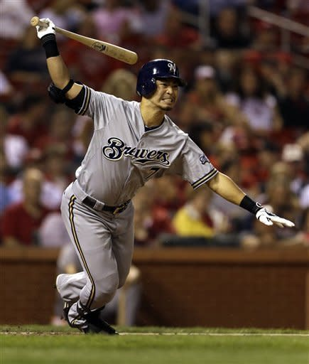Braun boosts Brewers past Cardinals 5-4 in 13