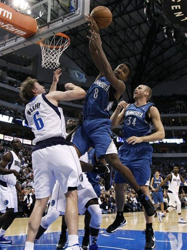 Short-handed Timberwolves beat Mavericks 90-82