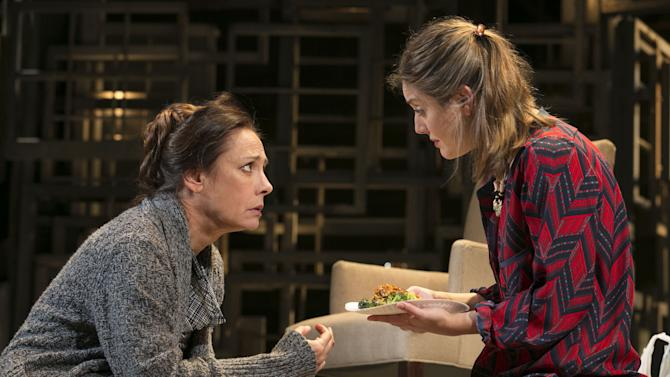"This undated theater image released by Boneau/Bryan-Brown shows actress Laurie Metcalf, left, and Zoe Perry during a performance of ""The Other Place."" (AP Photo/Boneau/Bryan-Brown, Joan Marcus)"