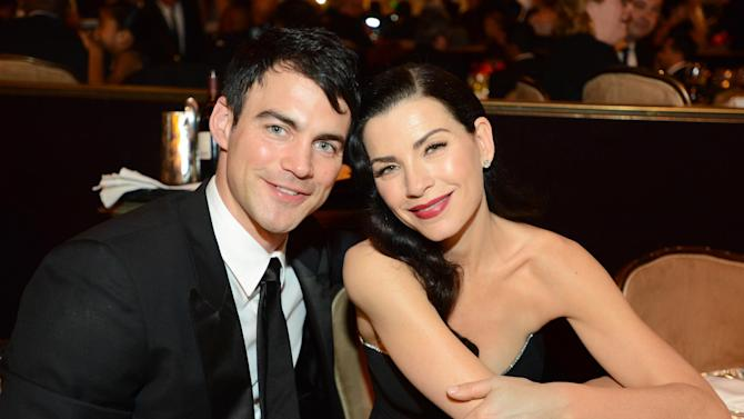 IMAGE DISTRIBUTED FOR THE PRODUCERS GUILD - Julianna Margulies, right, and Keith Lieberthal pose in the audience at the 24th Annual Producers Guild (PGA) Awards at the Beverly Hilton Hotel on Saturday Jan. 26, 2013, in Beverly Hills, Calif. (Photo by Jordan Strauss/Invision for Producers Guild/AP Images)