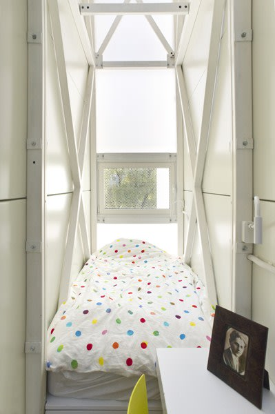 World's thinnest house Keret bed