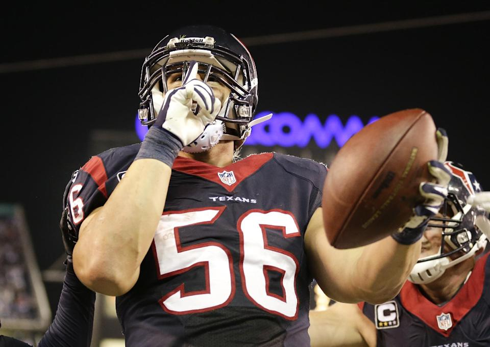 LB Cushing back to old dominant self for Texans