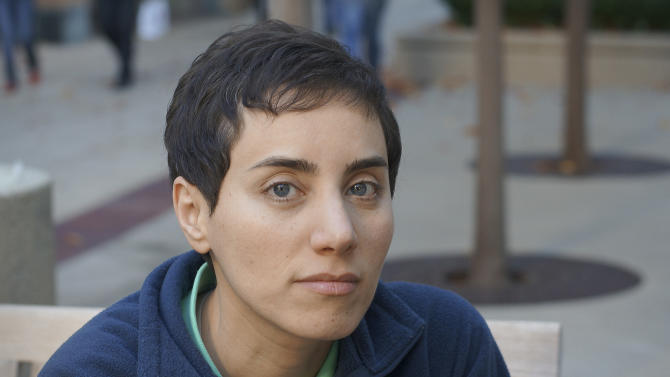 This undated photo provided by Professor Maryam Mirzakhani via Stanford shows her on the university's campus. On Wednesday, Aug. 13, 2014, the Iranian-born Stanford University professor became the first woman to win math's highest honor, the Fields Medal. The prize is awarded every four years to mathematicians 40 years old or younger. It was established in 1936. (AP Photo/Maryam Mirzakhani via Stanford)